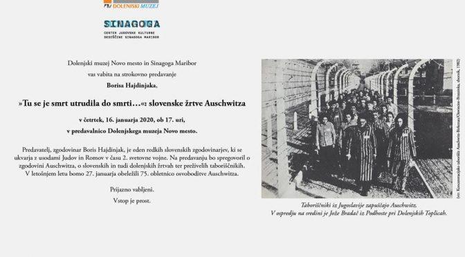 """Tu se je smrt utrudila do smrti …"": slovenske žrtve Auschwitza"